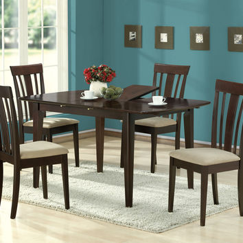 """Dining Chair - Set Of Two - 38""""H - Cappuccino With Micro-Fibre"""
