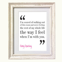 Christmas Gift Idea Dirty Dancing Movie Quote by silvermoonprints