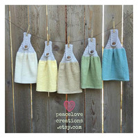 Bar Mop Kitchen Towels~ Set of Five~Ready to Ship~FREE SHIPPING