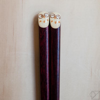 Japanese Chopsticks Owl Friends