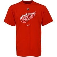 Reebok Detroit Red Wings Youth Red Primary Logo T-shirt