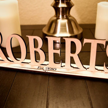 Custom Engraved Wood Family Name Sign with Establish Date