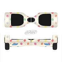 The Tan & Colored Laced Polka dots Full-Body Skin Set for the Smart Drifting SuperCharged iiRov HoverBoard