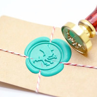 Mad Hatter Alice in the Wonderland B20 Gold Plated Wax Seal Stamp x 1