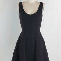 LBD Short Length Tank top (2 thick straps) Fit & Flare Cityscape Escape Dress