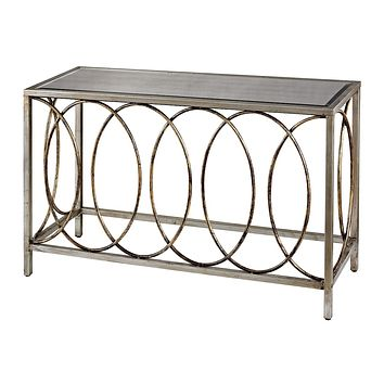 Retford Console Table With Mirrored Top