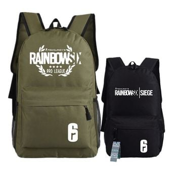 Game Tom Clancy's Rainbow Six Siege Printing Military Backpack Unisex Student School Bags Canvas Laptop Backpack Rucksack