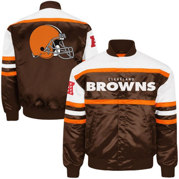Cleveland Browns Era Satin Jacket - Brown