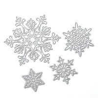 4pcs/Set Christmas Snowflake Scrapbooking Album Paper Card cutting dies for DIY Scrapbook Decoration