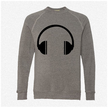 Headphones 6 fleece crewneck sweatshirt