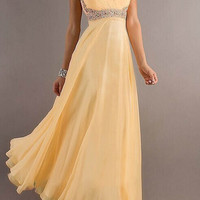 Strapless low-cut long dress  MY0128FY