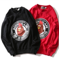 Ape head year of the sweater sweater round collar hedging men and women sweater jacket men
