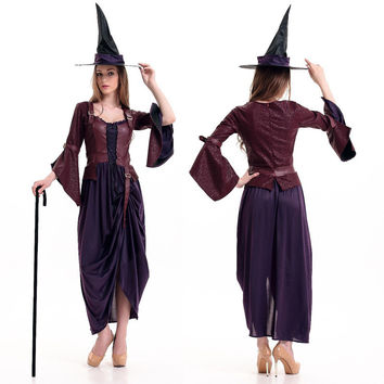 Witch Cosplay Anime Cosplay Apparel Holloween Costume [9220296132]