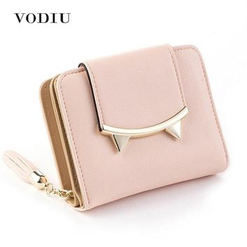 Korean  Anime  Leather  Trifold  Wallet  Women  Small