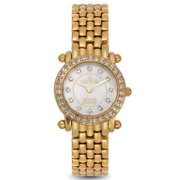 Croton Womens Stainless steel Goldtone Mother of Pearl Watch