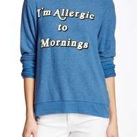 Allergic To Mornings Baggy Beach Jumper