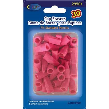 Pink Cap Erasers- 30 count Case Pack 48