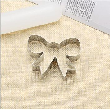 Bow Cookie Tools Cutter Mould Biscuit Press Icing Set Stamp Mold Stainless Steel Bakeware For Kitchen China