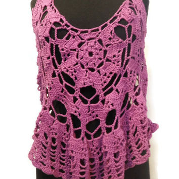 Radiant Orchid tank top one of a kind!  On sale!