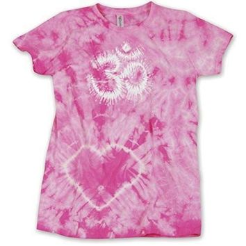 Yoga Clothing for You Ladies Dye OM Tie Dye Yoga Tee Shirt
