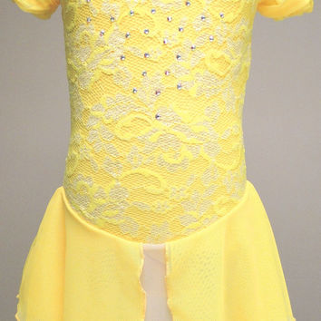 Figure Skating Dress inspired by Belle from Disney's Beauty and the Beast / Ice Skating Dress / Dance Dress