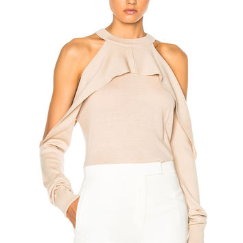 Dion Lee Merino Release Sleeve Sweater in Blush | FWRD