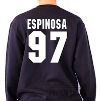 Espinosa 97 Sweatshirt Sweater Crew Neck Shirt Matthew shirt screen on black shirt – Size S M L XL
