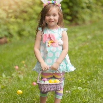 Molly & Millie Polka Dot Easter Some Bunny Loves You Tunic