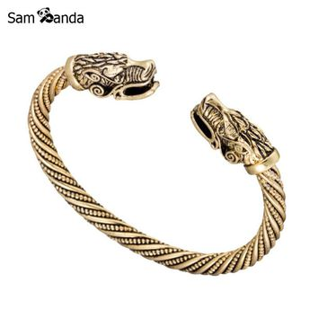 Teen Dragon Indian Jewelry Fashion Accessories Viking Bracelet Men Wristband Cuff Bracelets For Women Bangles Pulseiras Feminina