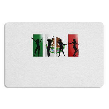 Mexican Flag - Dancing Silhouettes Placemat by TooLoud