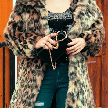 Sammy Print Fur Coat