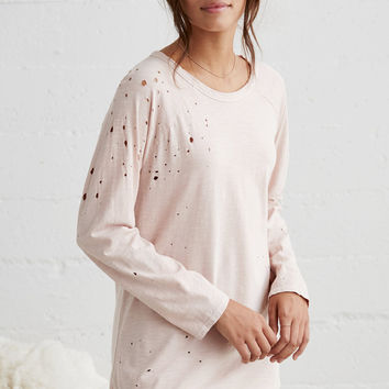 Me To We Washed Distressed Long Sleeve Raglan T-Shirt at PacSun.com