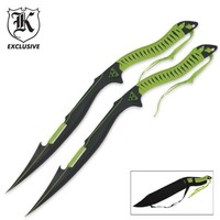 Zombie Apocalypse Twin Sword Set With Sheath