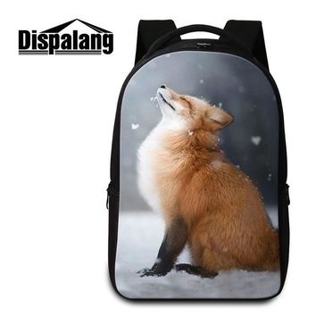 Girls bookbag Dispalang Quality Laptop Backpack Pattern Fox Printed School Bookbag for College Personalized Day Pack for Boys Girls Mochilas AT_52_3