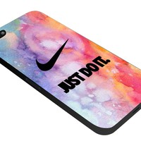 RCO - Nike Air Logo Just Do It Colorful Custom Case for Iphone 4 4s 5 5c 6 6plus (Iphone 5 black)
