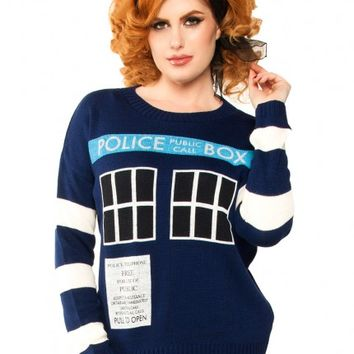 Doctor Who Tardis Sweater