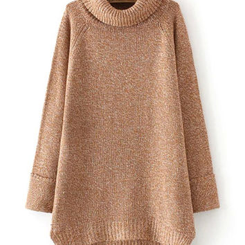 Textured Vintage Look Turtleneck Sweater
