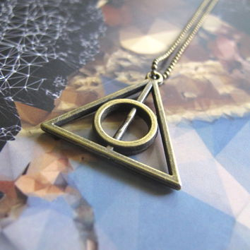 Harry Potter Deathly Hallow Necklace or Phone Charm