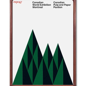 Canada Expo 67 Mid Century Modern Poster