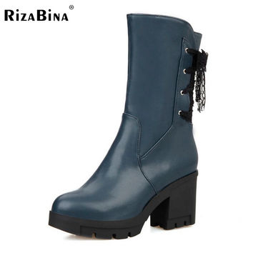 Punk Womens Gothic Buckle Straps Wedge High Heel Platform Creeper Round Toe Zip Side Ankle Boots Shoes Footwear