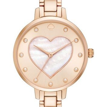 kate spade new york metro - heart bracelet watch, 34mm | Nordstrom