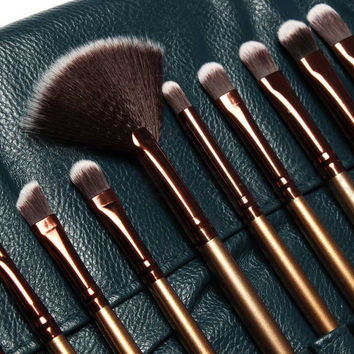 21 PCS Royal Blue Luxury Make Up Brush Kits [9605565967]