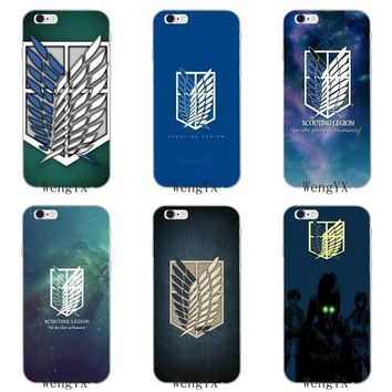 Cool Attack on Titan  Scouting Legion Thin Transparent Soft phone case For Apple iPhone 4 4s 5 5s 5c SE 6 6s 7 8 plus X XR XS Max AT_90_11