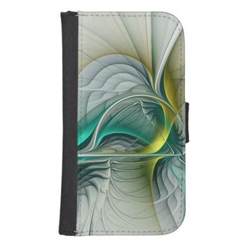 Fractal Evolution, abstract Art Galaxy S4 Wallet Case