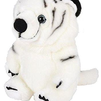 "Wildlife Tree 9"" Stuffed White Tiger Plush Belly Buddies Animal Heirloom Collection"