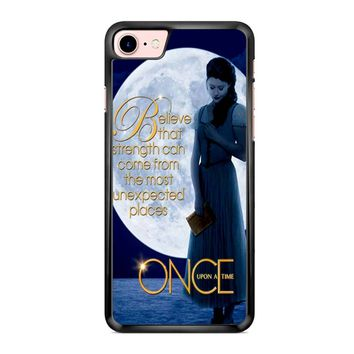 Once Upon A Time Belle Full Moon iPhone 7 Case