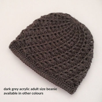 mens beanie hats, crochet beanie hats, crochet beanies, Knitted beanie, knit beanie hats, mens beanie, grey beanies, womens hats, toques,