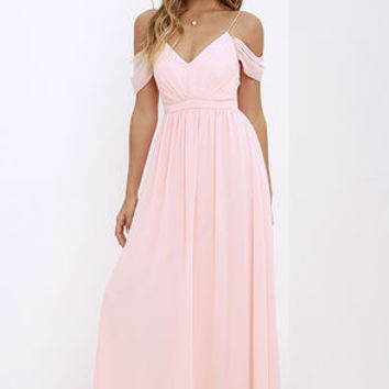 Quite the Charmer Peach Maxi Dress