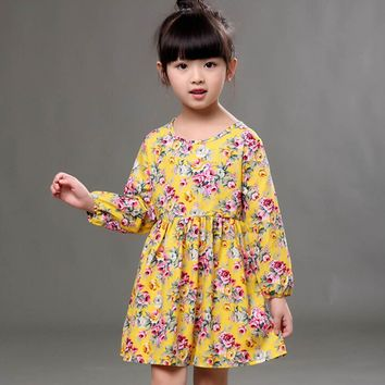 Baby Girls Dress Long Sleeve Princess Party Pageant Dresses Kids Clothes
