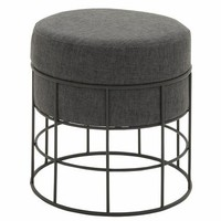 Benzara Unique Metal Outdoor Fabric Stool